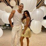 Chris Appleton con Kim Kardashian en la fiesta del 40 cumpleaños de la empresaria