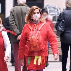 Ágatha Ruiz de la Prada paseando por Venecia
