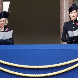 Camilla Parker Bowles y Kate Middleton el Día del Recuerdo 2020