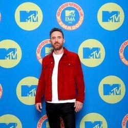 David Guetta en la alfombra roja de los MTV EMA 2020
