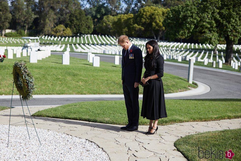 Los Duques de Sussex rindiendo homenaje a los caídos el Día del Recuerdo 2020
