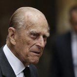 El Duque de Edimburgo en el funeral de Patricia Knatchbull