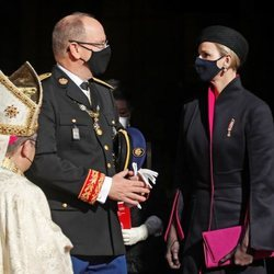 Alberto y Charlene de Mónaco en el Te Deum del Día Nacional de Mónaco 2020