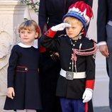 Jacques y Gabriella de Mónaco en el Día Nacional de Mónaco 2020