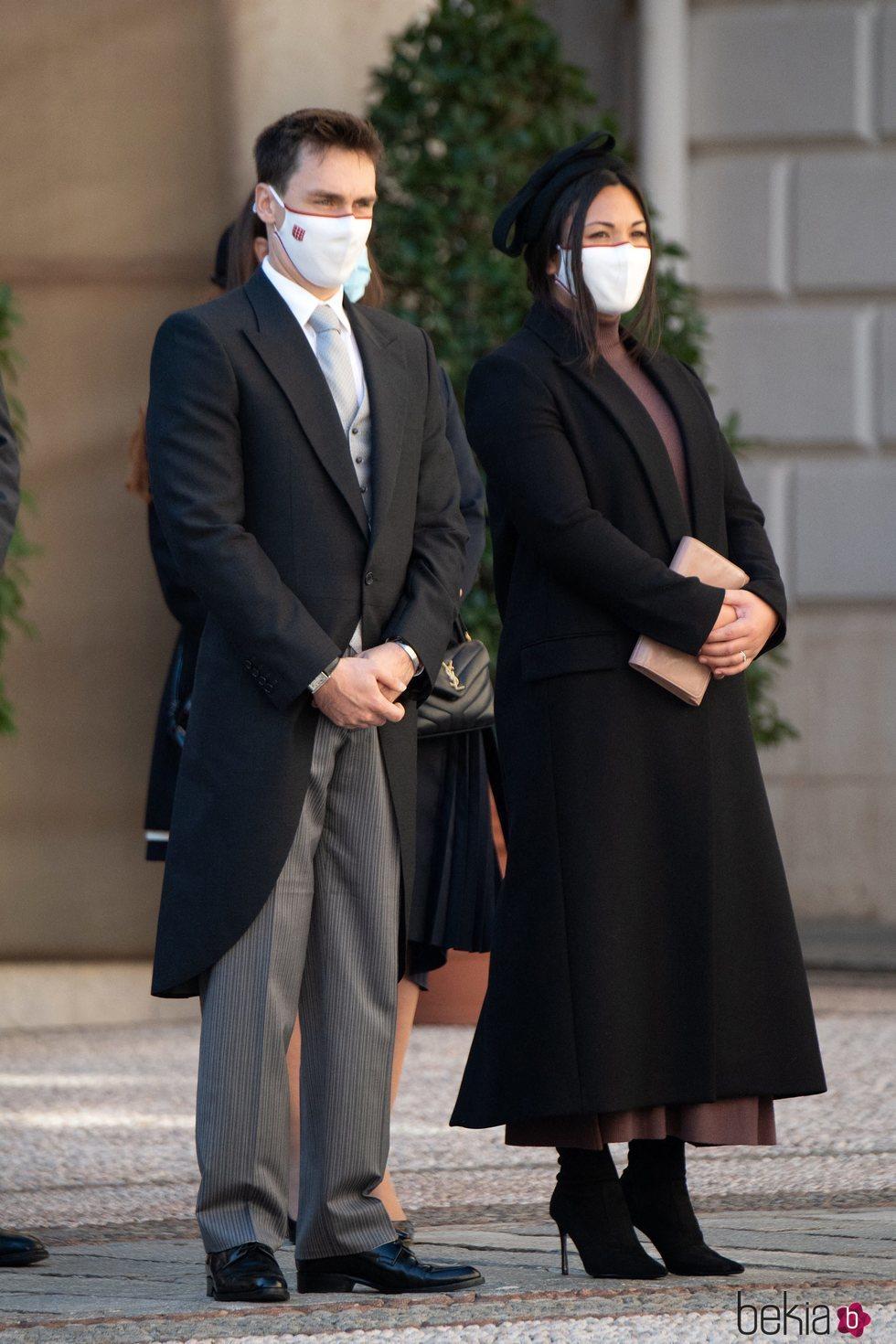 Louis Ducruet y Marie Chevallier en el Día Nacional de Mónaco 2020