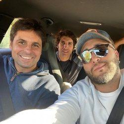 Fran, Kiko y Cayetano Rivera, en su reencuentro yendo a visitar al tío Riverita