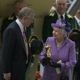 La Reina Isabel y el Príncipe Andrés en Ascot 2013