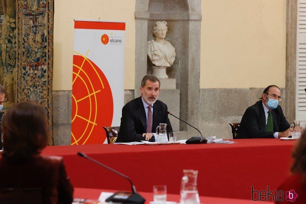 El Rey Felipe da un discurso en el Consejo Científico del Real Instituto Elcano de Estudios Internacionales y Estratégicos
