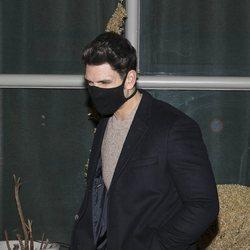 Diego Matamoros saliendo de cenar de un restaurante en Madrid