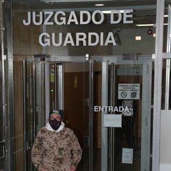 Rafael Amargo saliendo del juzgado de guardia