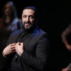 Rafael Amargo en una rueda de prensa en el Teatro La Latina tras su detención