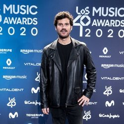 Willy Bárcenas en la entrega de Los 40 Music Awards 2020