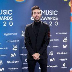 Dani Martínez en la entrega de Los 40 Music Awards 2020