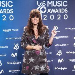 Vanesa Martín en la entrega de Los 40 Music Awards 2020