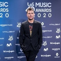 Dani Martín en la entrega de Los 40 Music Awards 2020