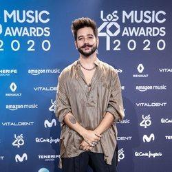 Camilo en la entrega de Los 40 Music Awards 2020