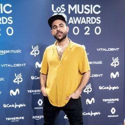 Nil Moliner en la entrega de Los 40 Music Awards 2020