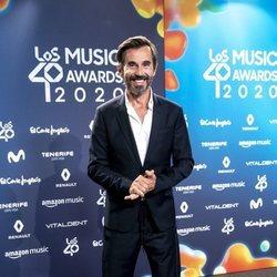 Santi Millán en la entrega de Los 40 Music Awards 2020