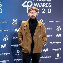 Dani Fernández en la entrega de Los 40 Music Awards 2020