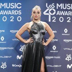 Lola Índigo en la entrega de Los 40 Music Awards 2020