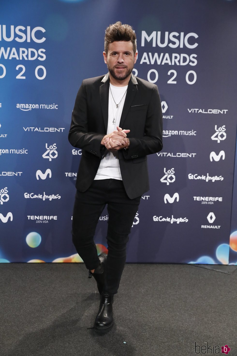 Pablo López en la entrega de Los 40 Music Awards 2020