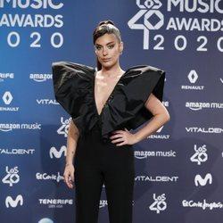 Dulceida en la entrega de Los 40 Music Awards 2020