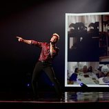 David Bisbal durante su actuación en Los 40 Music Awards 2020
