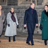 Los Duques de Cambridge y los Condes de Wessex en un encuentro con voluntarios y trabajadores esenciales en Windsor Castle