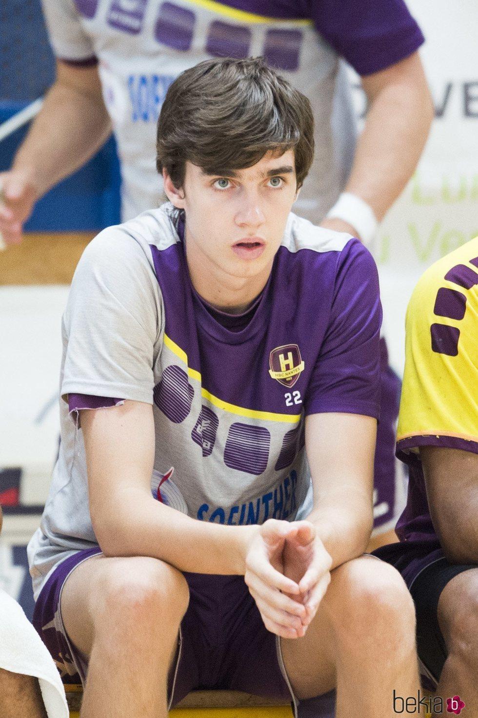 Pablo Urdangarin en un partido de balonmano en Francia