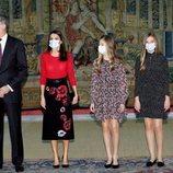 Los Reyes Felipe y Letizia, la Princesa Leonor y la Infanta Sofía en la reunión del Patronato de la Fundación Princesa de Girona