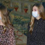 La Princesa Leonor y la Infanta Sofía en la reunión del Patronato de la Fundación Princesa de Girona