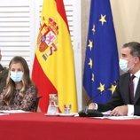 El Rey Felipe y la Princesa Leonor en la reunión del Patronato de la Fundación Princesa de Girona