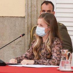 La Princesa Leonor durante su discurso en la reunión del Patronato de la Fundación Princesa de Girona