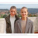 La Princesa Leonor y la Infanta Sofía felicitan la Navidad 2020 con una foto inédita en Somao