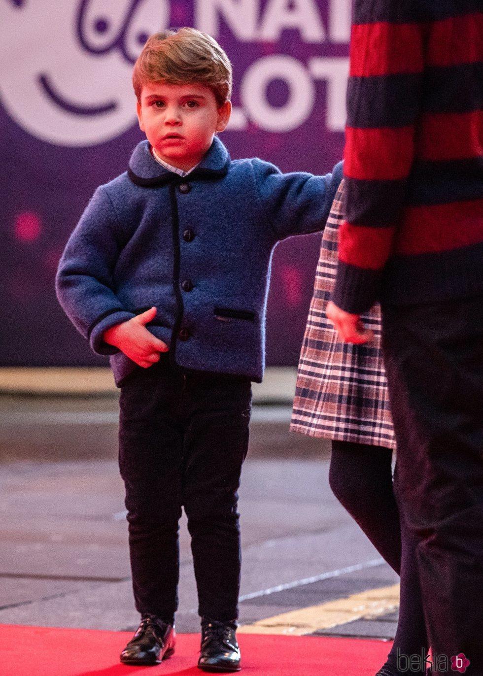 El Príncipe Luis de Cambridge en el espectáculo 'Pantoland'
