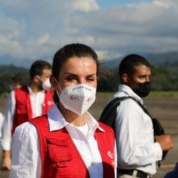 La Reina Letizia a su llegada a Honduras para un viaje de cooperación