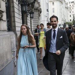 Felipe de Grecia y Nina Flohr en la boda de Christian de Hannover y Alessandra de Osma