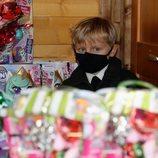 Jacques de Mónaco en la entrega de regalos navideños 2020
