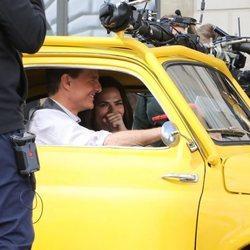 Tom Cruise y Hayley Atwell rodando 'Misión imposible 7' en Roma