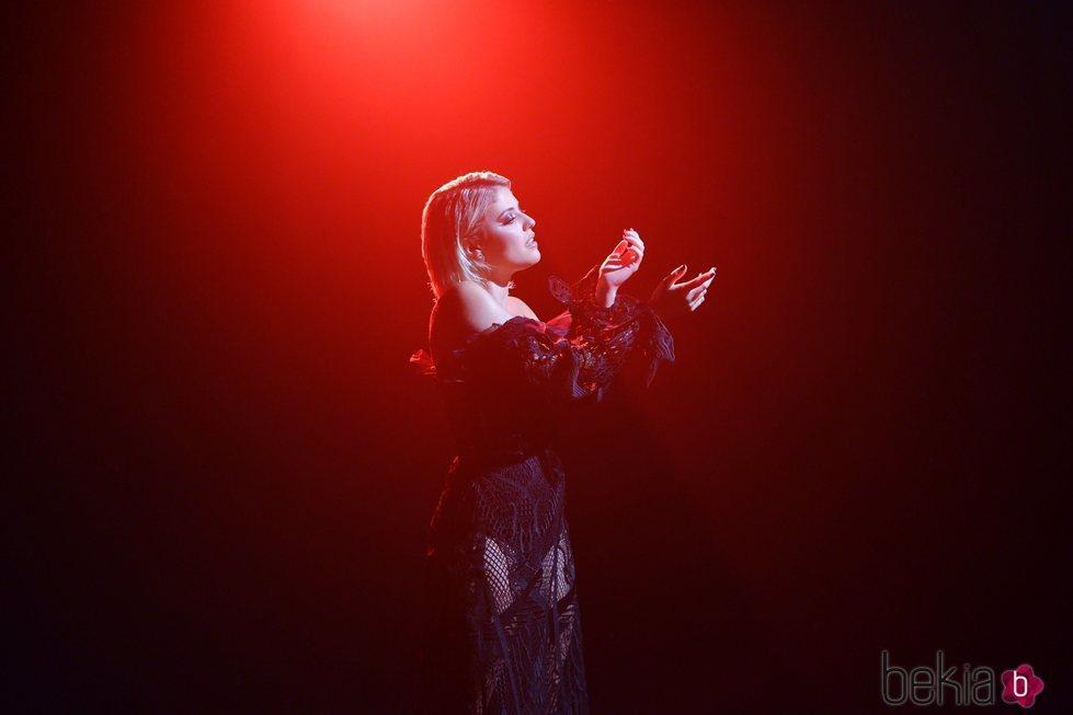 Alba Reche durante el rodaje del videoclip de 'Que Bailen'