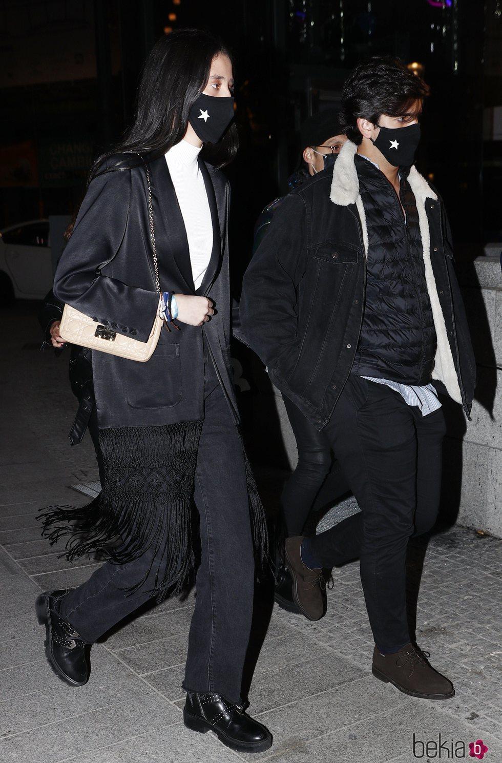 Victoria Federica y Jorge Bárcenas tras la cena de inauguración del Hotel Four Seasons de Madrid