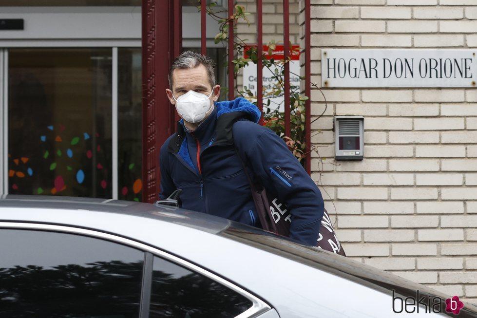 Iñaki Urdangarin en su regreso a su voluntariado en Hogar Don Orione tras realizar una cuarentena preventiva