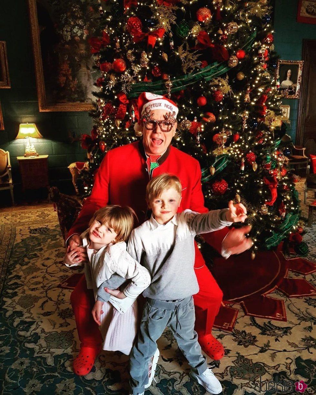 El Príncipe Alberto de Mónaco celebra la Navidad 2020 con sus hijos