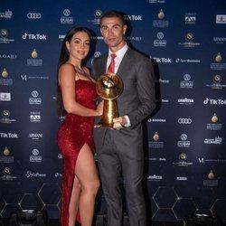 Cristiano Ronaldo y Georgina Rodríguez en la entrega de los Premios Globe Soccer 2020 de Dubai