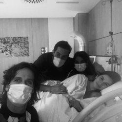Feliciano López y Sandra Gago tras convertirse en padres de su primer hijo