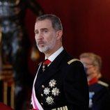 El Rey Felipe durante su discurso de la Pascua Militar 2021
