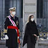 Los Reyes Felipe y Letizia presidiendo la Pascua Militar 2021