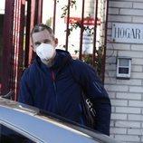 Iñaki Urdangarin llegando a su voluntariado tras pasar la Navidad en Vitoria