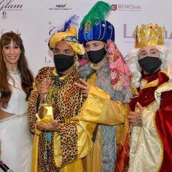 Fani Carbajo, Luis Rollán, Omar Montes y Kiko Rivera en un evento navideño en Marbella