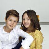 Vicente y Josefina de Dinamarca en su 10 cumpleaños